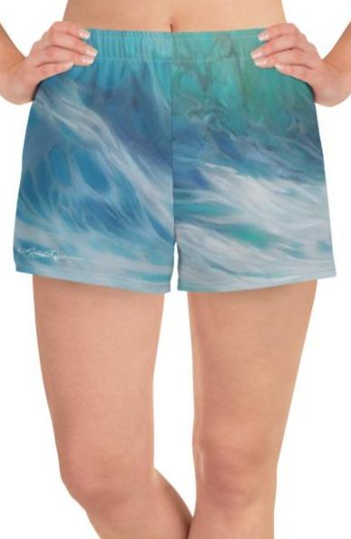"""Summer Wave"" Athletic Shorts"