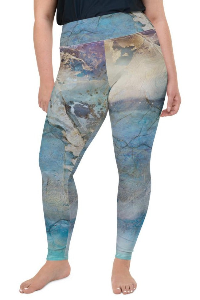 """Coral Break"" Plus Size Leggings"