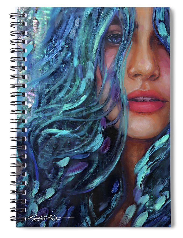 """River Mist"" Spiral Notebook"