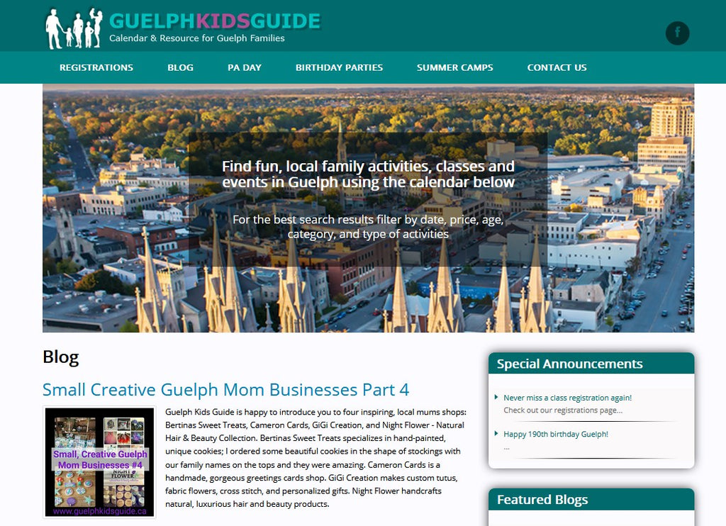 Guelph Kids Guide - NIGHT FLOWER - Creative Mom Businesses Feature