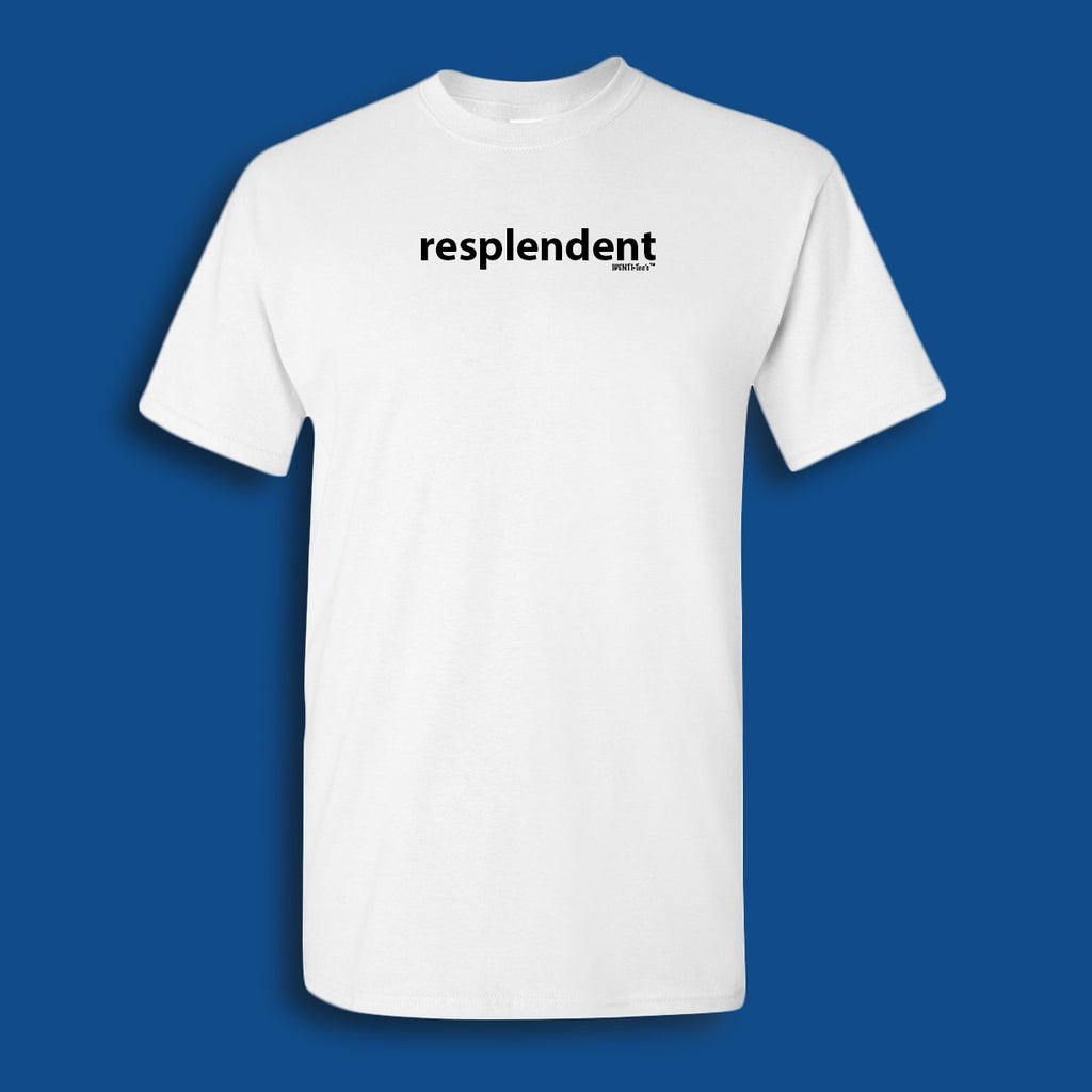 IDENTI·Tee's Word Of The Day 4/21/2017:   RESPLENDENT