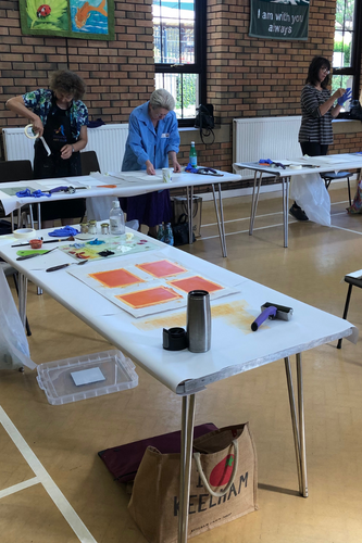 Workshop with the Guiseley Art Club