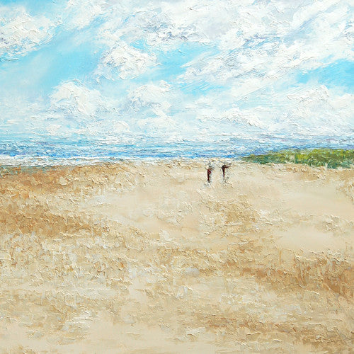 Bamburgh Beach Greetings Card