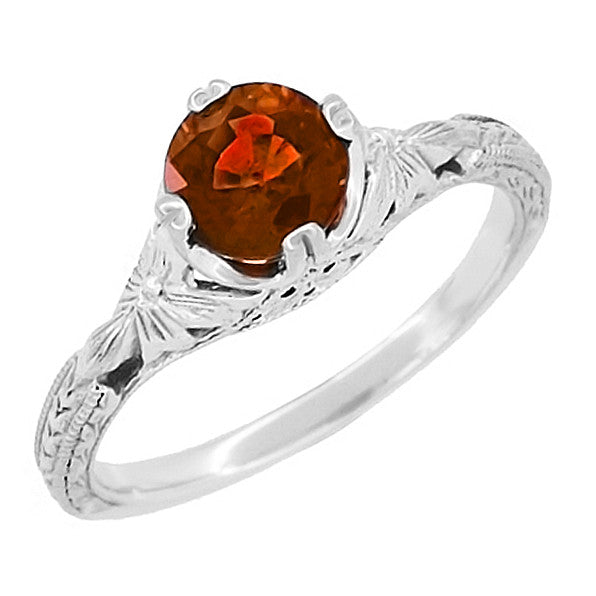 Red Garnet Engagement Ring