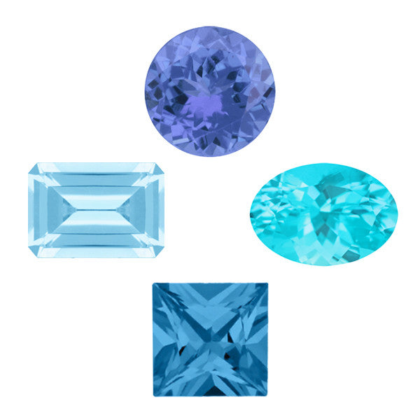 December Birthstone is Tanzanite and Blue Topaz