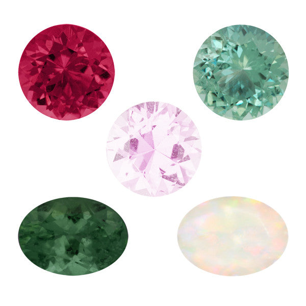 October Birthstone is Tourmaline and Opal