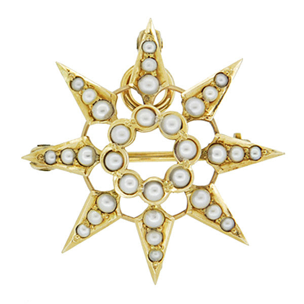 Yellow Gold Brooch - Antique