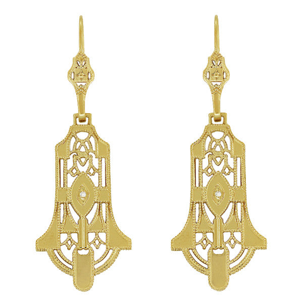 Yellow Gold Earrings - Vintage