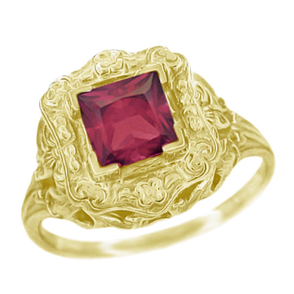 Yellow Gold Ring - Antique