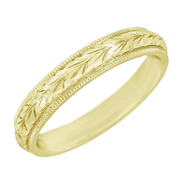 Yellow Gold Wedding Band - Vintage