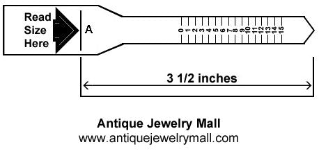 graphic about Printable Ring Size Chart referred to as Printable Ring Sizer: Locate Your Ring Measurement World