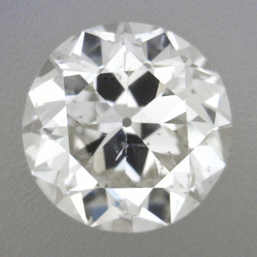 0.39 Carat Loose Transitional Round Brilliant Cut Vintage Diamond H Color SI1 Clarity