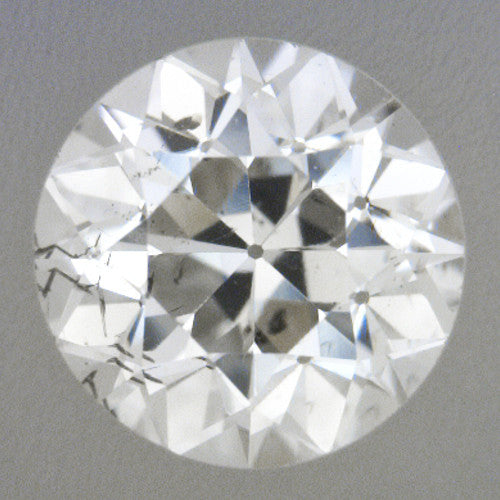 0.43 Carat Loose Vintage Transitional Round Brilliant Cut Diamond H Color SI2 Clarity