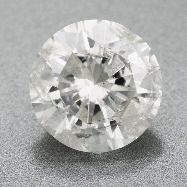 1.03 Carat H Color I2 Clarity Round Brilliant Cut Diamond with EGL USA Certificate | Natural Affordable Large Diamond