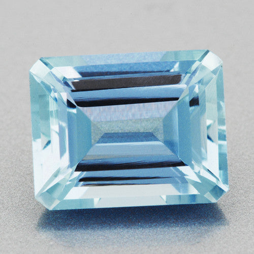 Exquisite 3 25 Carat Azure Blue Emerald Cut Loose