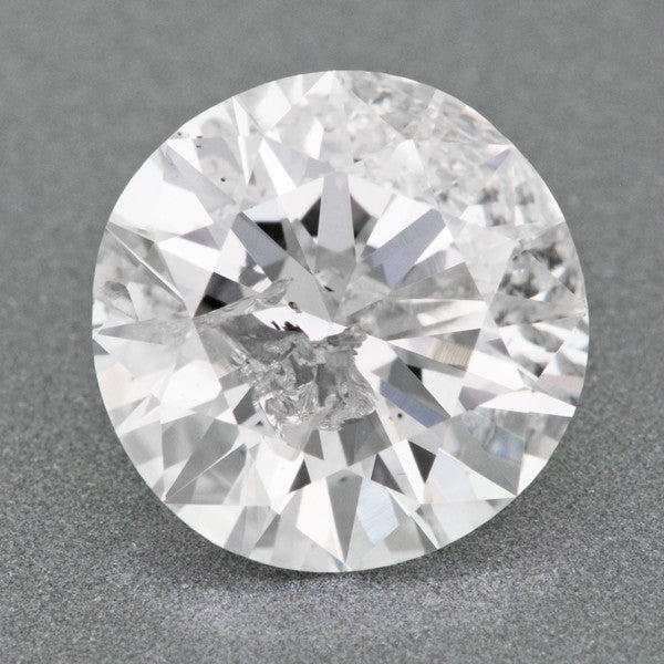 Loose 1.19 Carat Loose Round Brilliant Cut Diamond E Color I2 Clarity with EGL USA Report | Affordable Large Certified Diamond