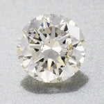 0.39 Carat Natural Faint Yellow Loose Round L Color Diamond SI2 Clarity | EGL USA Certificate | Good Cut