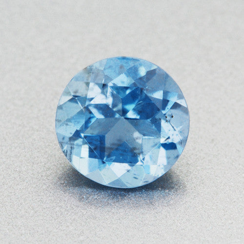Vivid Tropical Ocean Blue Round Loose Aquamarine Stone 0
