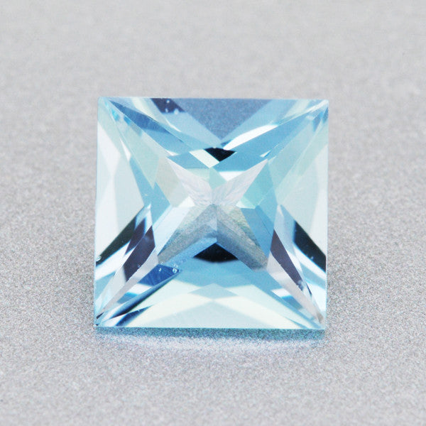 0 78 Carat Loose Princess Cut Fine Sky Blue Aquamarine