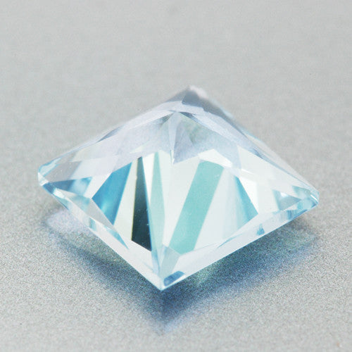 1.66 Carat Loose Princess Cut Fine Sky Blue Aquamarine | 7mm Square Gemstone - Item: AQ003273 - Image: 1