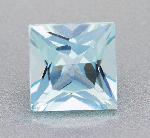 1.66 Carat Loose Princess Cut Fine Sky Blue Aquamarine | 7mm Square Gemstone