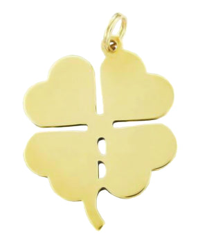 Lucky 4 Leaf Clover Pendant  in 14 Karat Gold