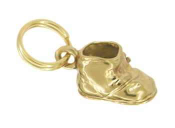 Old Fashioned Baby's Shoe Charm in 14K Gold