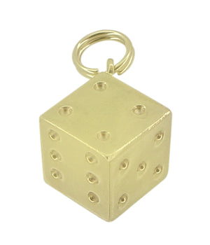Vintage Lucky Dice Charm in 14 Karat Gold