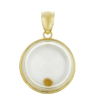 Matthew 17:20 Moveable Mustard Seed Charm in 14 Karat Yellow Gold