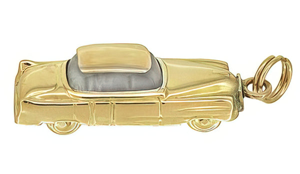 1955 Moveable Vintage Car Charm in 14 Karat Yellow Gold