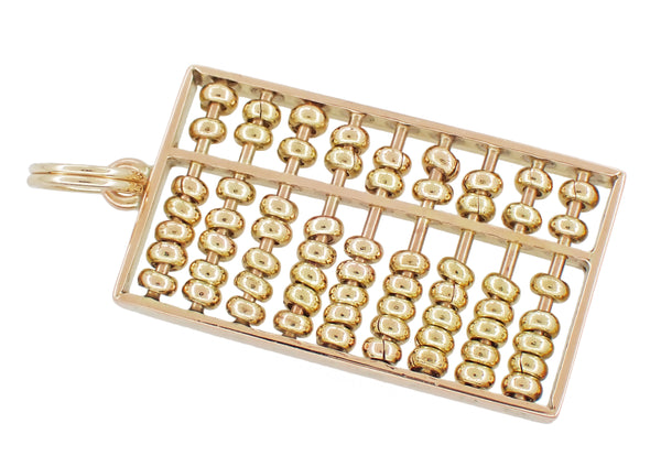 Moveable Vintage Abacus Charm in 14 Karat Yellow Gold
