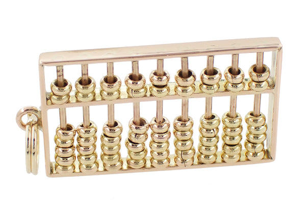 Moveable Vintage Abacus Charm in 14 Karat Yellow Gold - Item: C609 - Image: 1