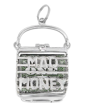 Mad Money Opening Purse Charm in 14 Karat White Gold