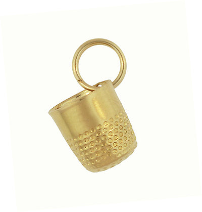 Little Vintage Thimble Charm in 14 Karat Yellow Gold - Item: C646 - Image: 1