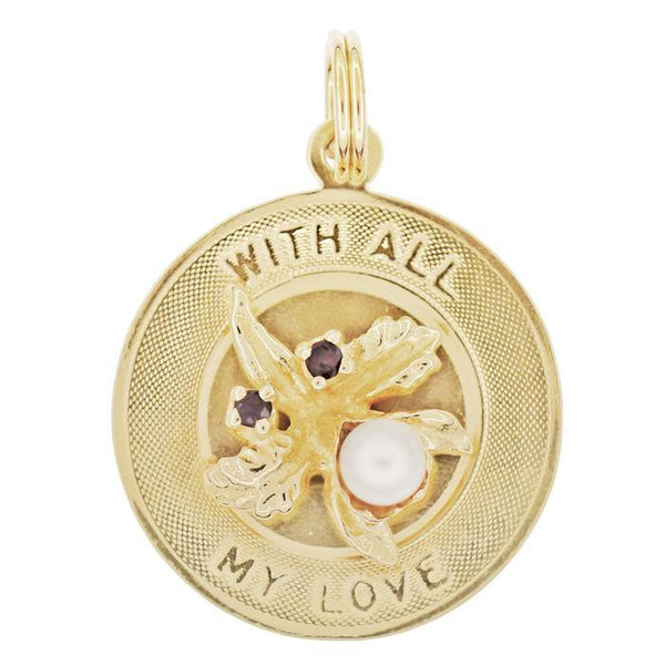 With All My Love Charm Medallion 14K yellow gold C775
