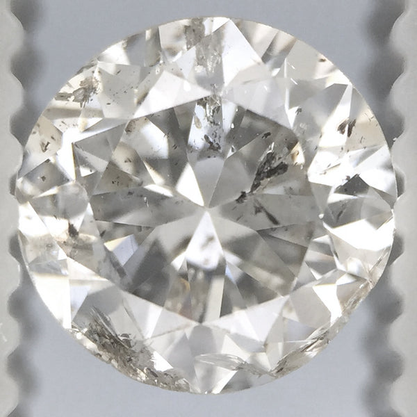 0.91 Carat H Color SI3 Clarity Affordable Loose Round Diamond | EGL USA Certified