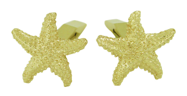 Yellow Gold Starfish Cufflinks - 14K - GCL102