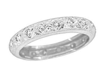 Art Deco Platinum Filigree Diamond Antique Heirloom Wedding Ring | Harwinton - Size 9 1/2