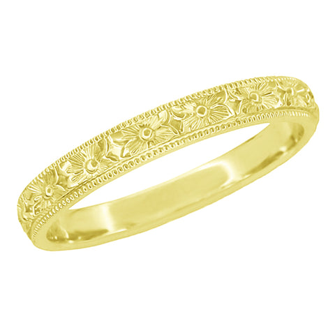 Vintage Yellow Gold Wedding Rings Antique Yellow Gold Wedding