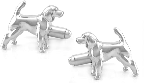 Beagle Cufflinks - Sterling Silver - SCL107