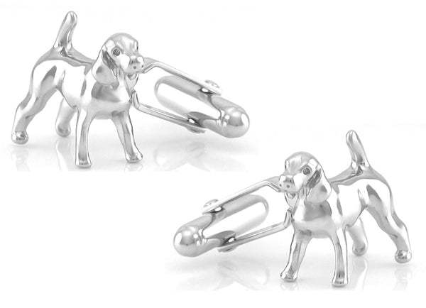 Harrier Cufflinks - Sterling Silver Dogs - SCL107