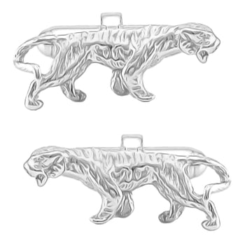 Tiger Cufflinks in Sterling Silver