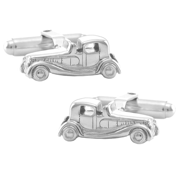 1920s Antique Car Cufflinks - Legends Car - Solid Sterling Silver SCL126