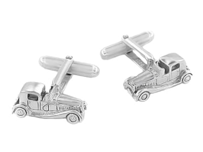 Antique Car Cufflinks in Sterling Silver - Item: SCL126 - Image: 1