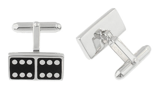Domino Cufflinks in Sterling Silver - Item: SCL139 - Image: 1
