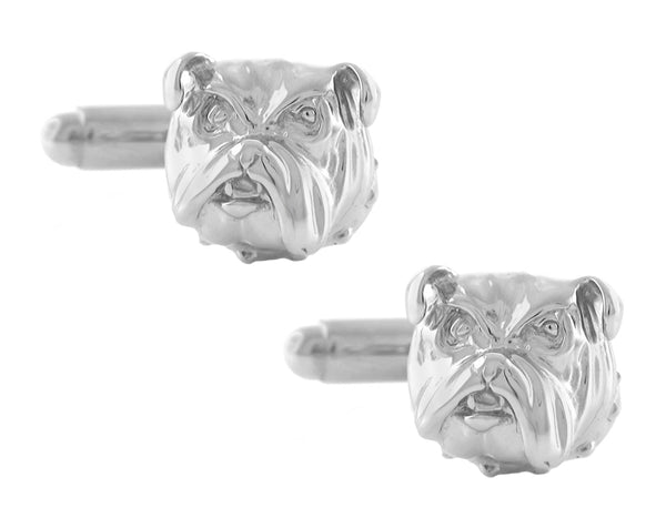 British Bulldog Cufflinks Sterling Silver - SCL159