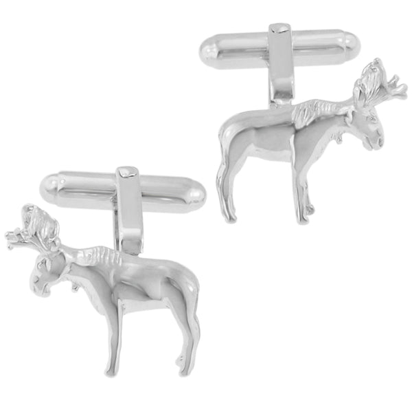 Moose Cufflinks - Solid Silver - SCL183