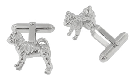 Shar-Pei ( Sharpei ) Cufflinks in Sterling Silver - Item: SCL202 - Image: 1