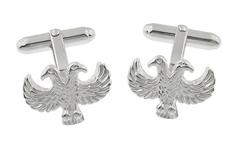 Double Headed Eagle Cufflinks in Sterling Silver