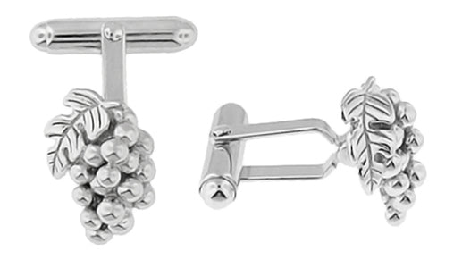 Grape Cufflinks - Solid Sterling Silver Wine Grapes Cuff Links for Wine Lovers